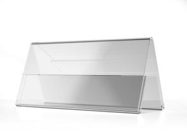 Transparent acrylic wide desk display