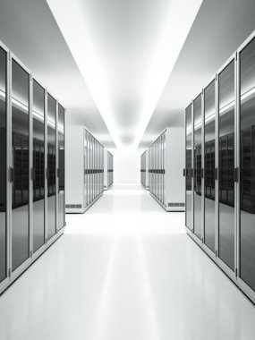 White interior of Data Center