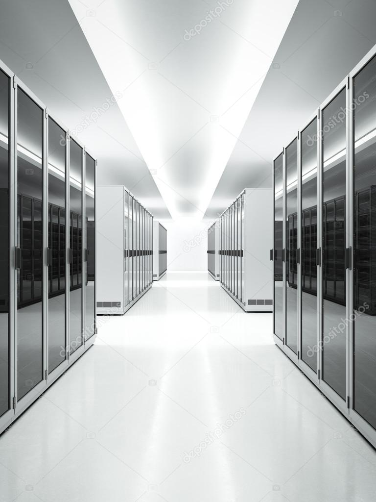 White interior of Data Center