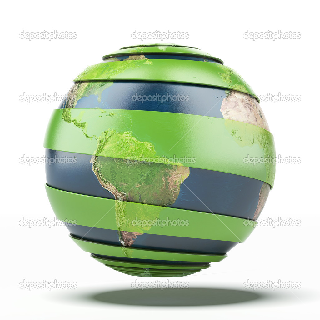 Green earth concept. Earth map provided by NASA