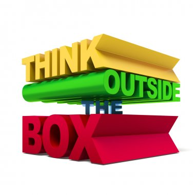 think outside the box text