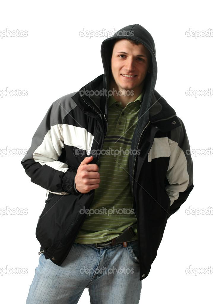 9db05d370c8 jeune homme en vêtements d hiver — Photographie wrangel ©  13130337