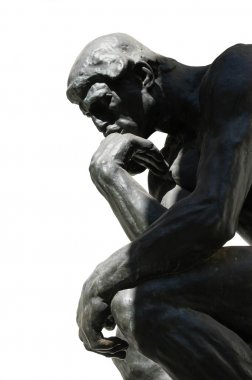 The Thinker - Statue Isolated on White