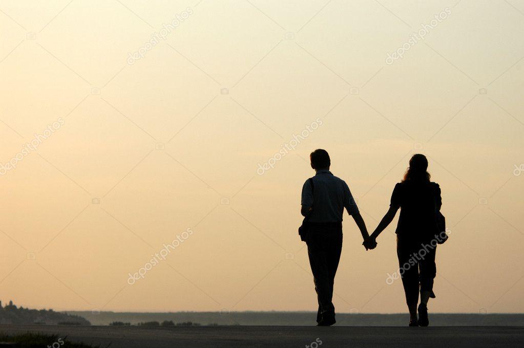 Loving Couple at Sunset