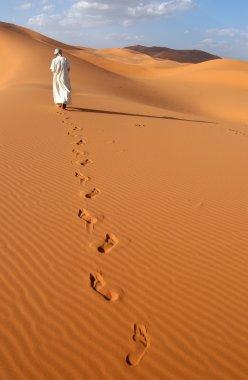 Lonely Man in the Sahara Desert