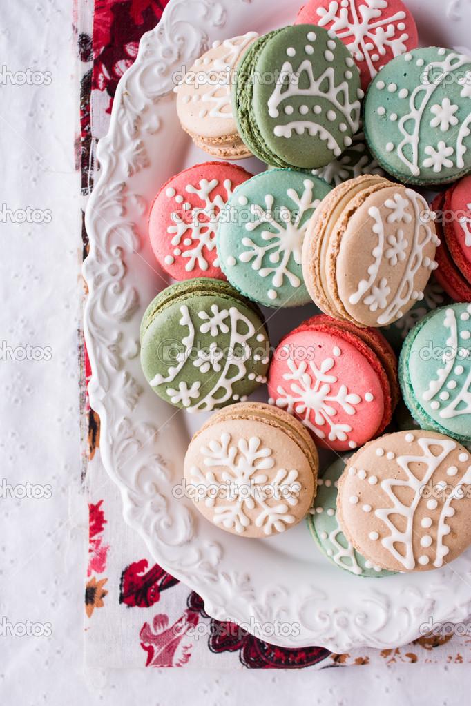 Christmas Macarons.Christmas Macarons Stock Photo C Heaven Vanilla 16826493