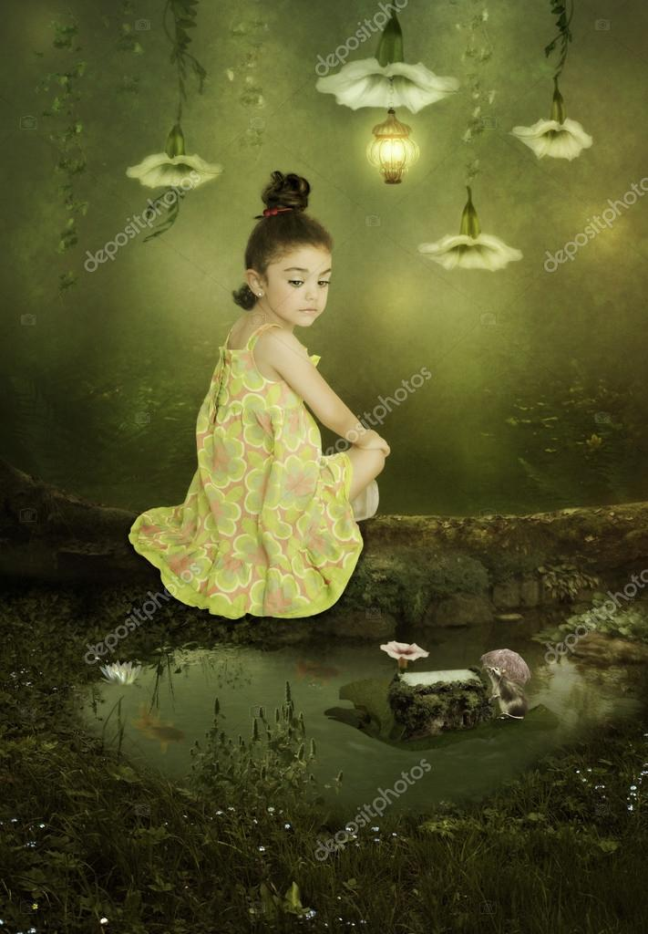 Girl in Magic Forest