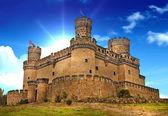 středověký hrad manzanares - Španělsko