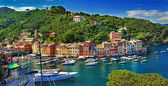 Portofino, Itálie. stanning pohled na záliv