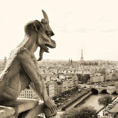 Parisian details - guards of the city- sepia toned picture