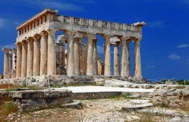 Temple of Orfeas in Aegina island, the prototipe of Acropolis