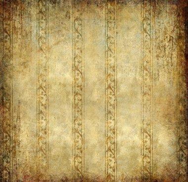 Shabby golden wallpaper - vintage background