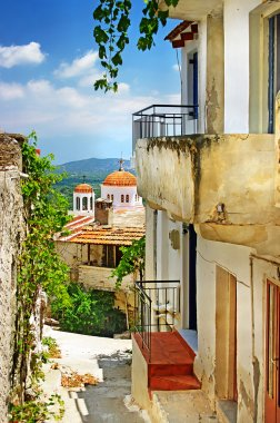 Greek streets and monasteries