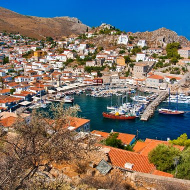 Pictorial view of Hydra island - Greece series