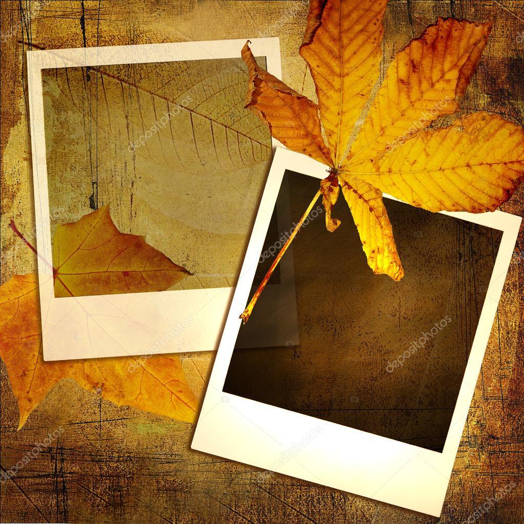 Vintage Herbst Hintergrund mit alten Bilderrahmen — Stockfoto ...