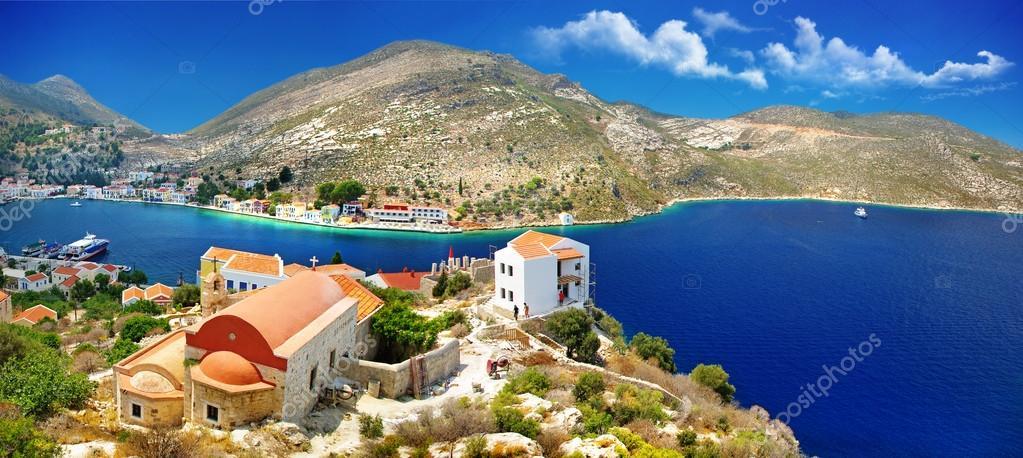 Islands of Greece - Kastelorizo with beautiful view of bay and church