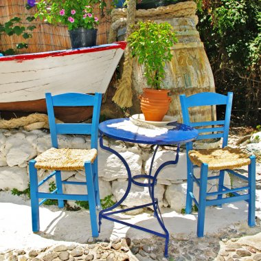 Traditional Greece, colored tavernas