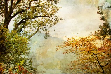 Autumn - artwork in painting style
