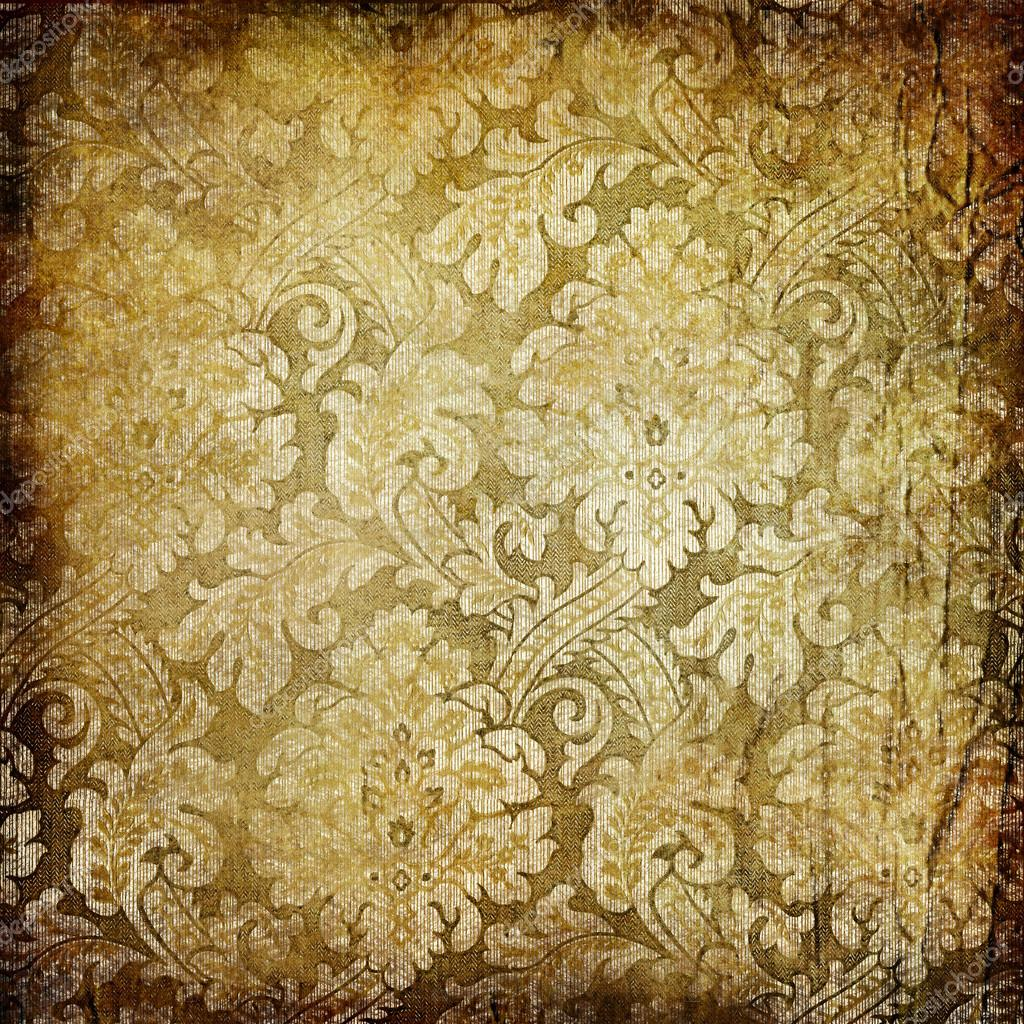 Grunge Vintage Background With Classy Patterns Stock Photo