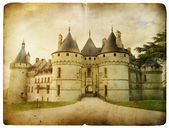 Chaumont hrad - vintage karta