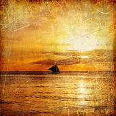Photo Vintage paper - tropical sunset