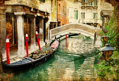 Venetian vintage cards series
