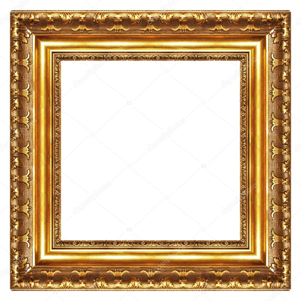 classy gilded frame square shape stock image