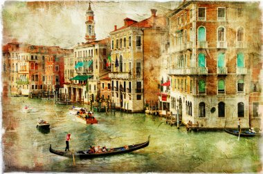Venice, artwork in painting style stock vector