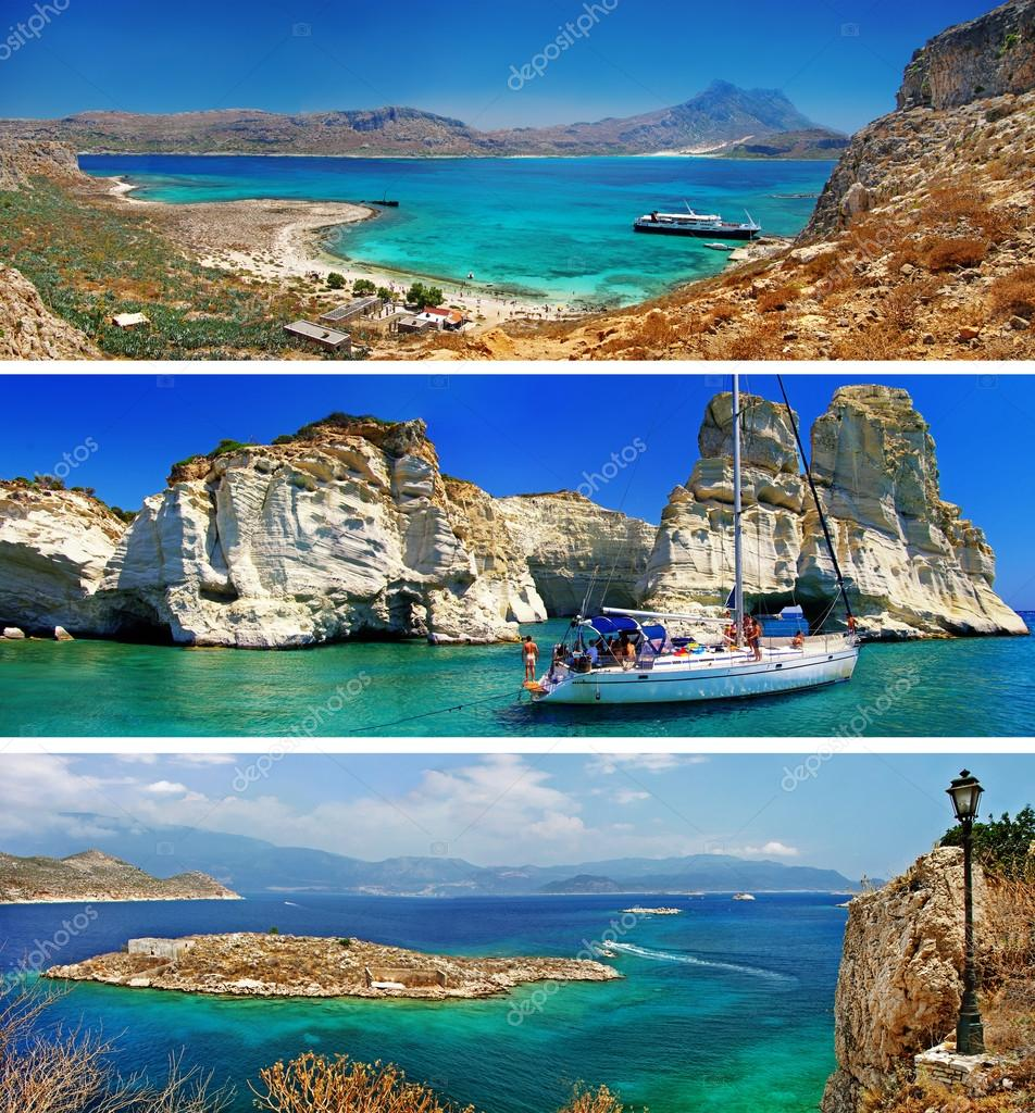 Travel in Greece - tourist collage