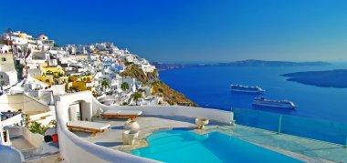 """Картина, постер, плакат, фотообои """"роскошные греческие праздники - санторини """", артикул 13376503"""