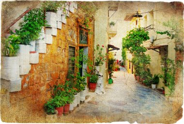 Charming old greek streets