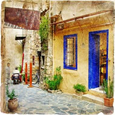 Old pictorial streets of Greece - artistic picture
