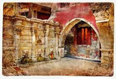 Venetian arch in rethimno city (Crete-Greece)