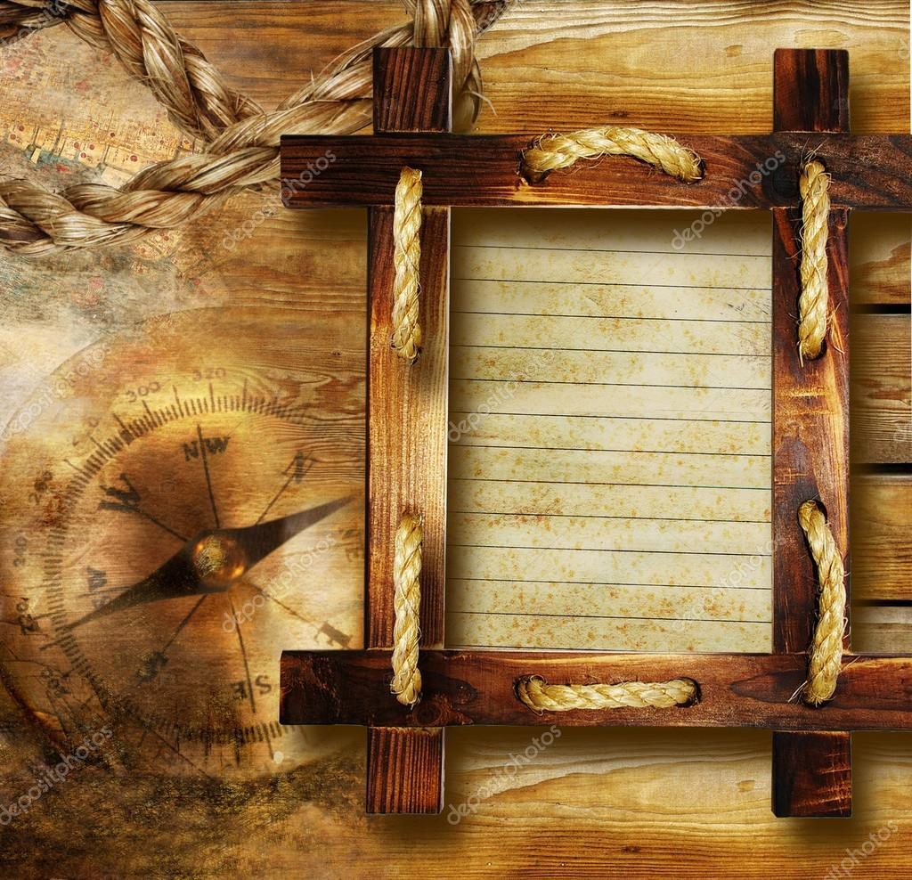 adventure stories background with wooden frame stock image