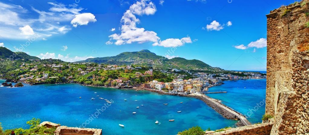 View of Ischia from castel Aragonese