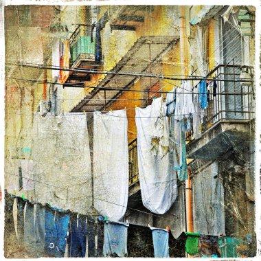 Napoli - traditional old italian streets