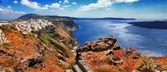 Fotografie Panorama ostrova santorini, Řecko