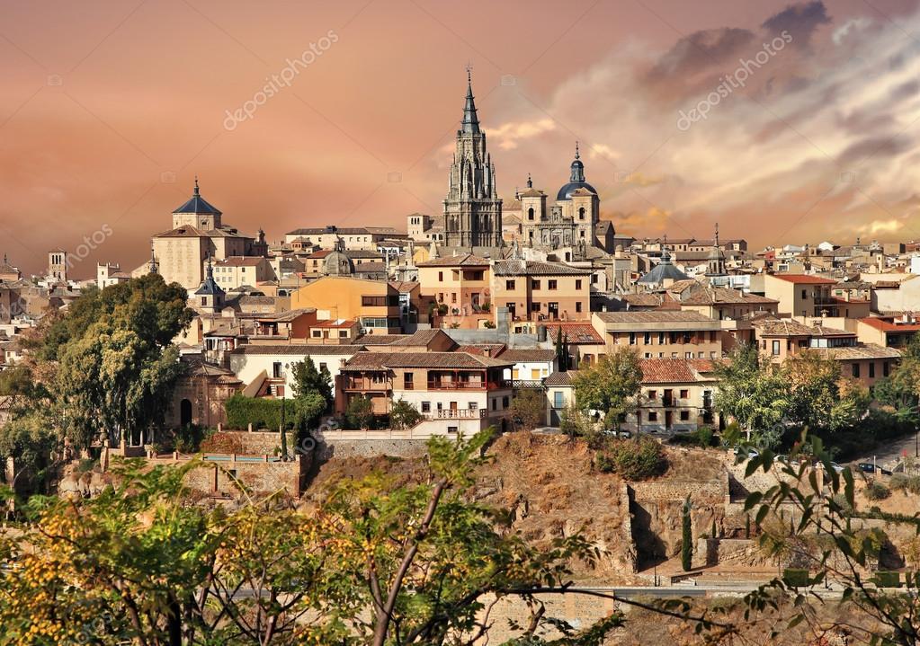 Toledo medieval city of spain stock photo maugli - Decoradores en toledo ...