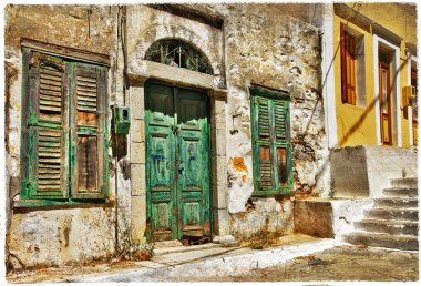 charming old streets of Greek islands
