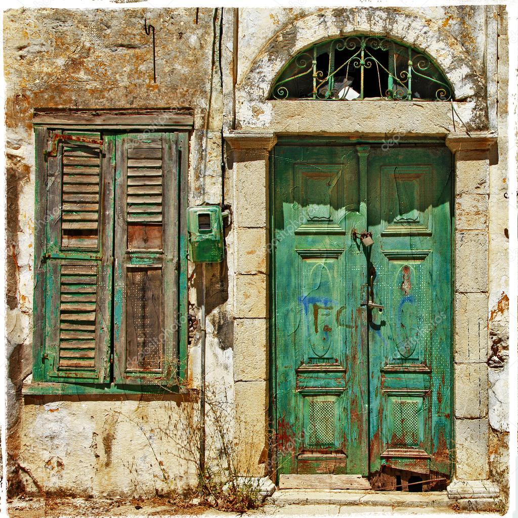 Old Doors Old Doors Greece Stock Photo Ac Maugli 30116621