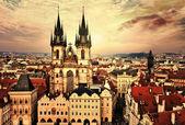 Praha na západ slunce
