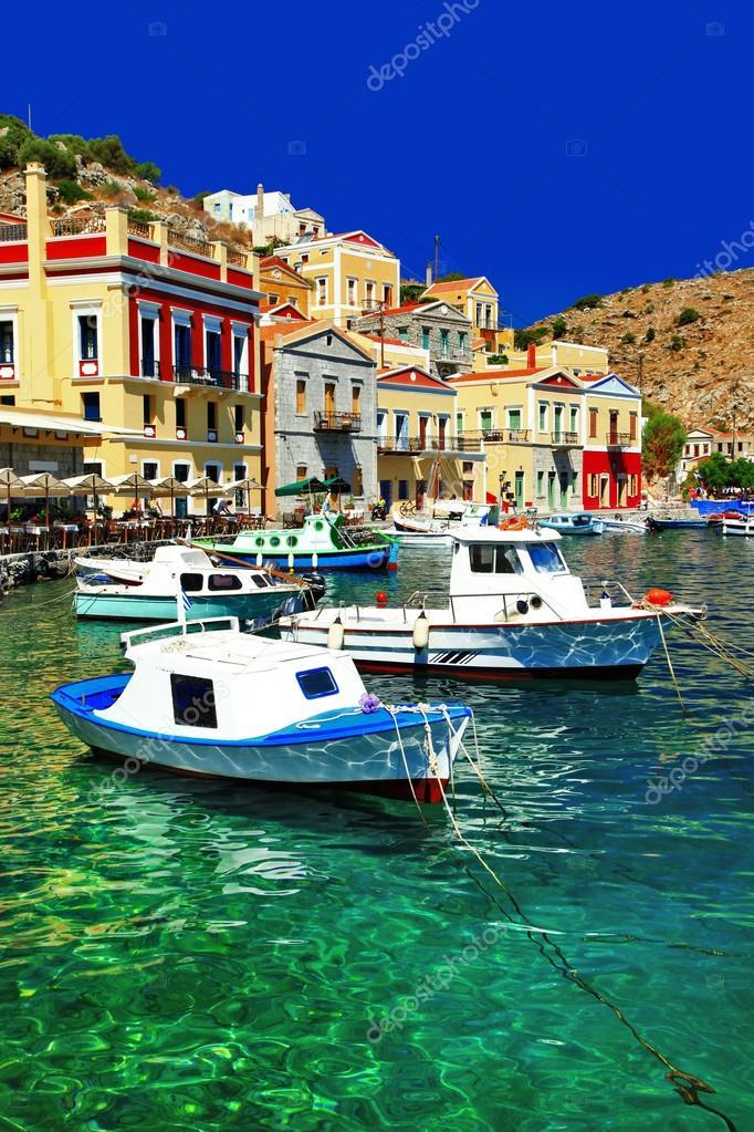 colorful Greece series Symi island, Dodecanes