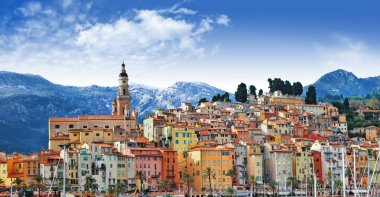 Colors of Souther Europe - Menton - beautiful town, border Franc