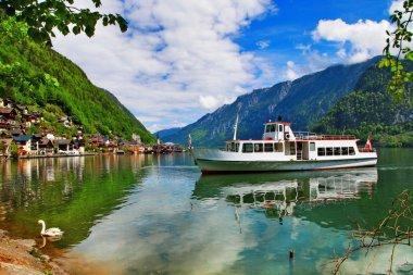 scenic Alpine lakes - Hallstatt,Austria