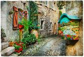 krásné ulice staré provance, Francie