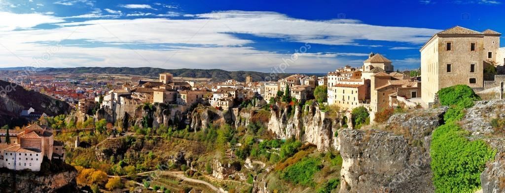 Medeival town on rocks Cuenca, Spain