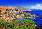 Photo beautiful Greek islands - Symi, Dodecanese