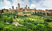 Fotografie San Gimignano Panorama - mittelalterliche Stadt der Toskana, Italien