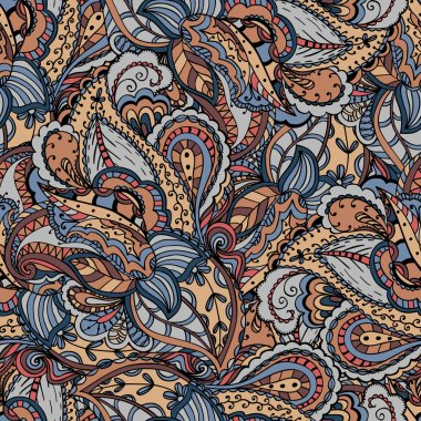 Abstract seamless ornamental pattern background