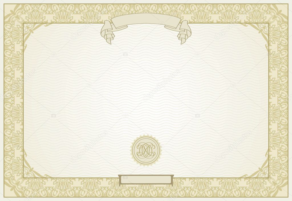 Editable Certificate Template With Ornamental Border In Modern